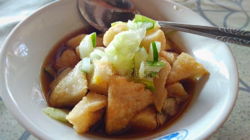 Τρόφιμα Empek-empek Πάλεμπανγκ Ινδονησία στοκ εικόνες