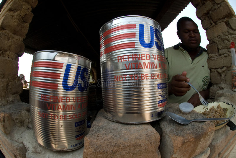 τρόφιμα usaid Ζιμπάπουε στοκ εικόνες