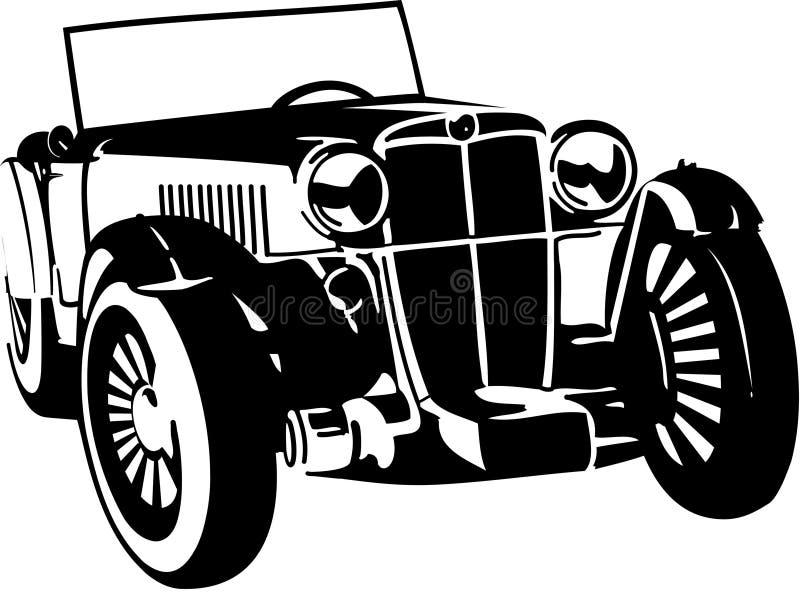 τρύγος αυτοκινήτων διανυσματική απεικόνιση