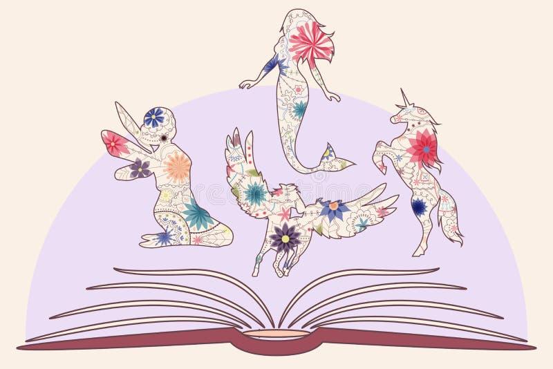 Τρύγος βιβλίων παιδιών απεικόνιση αποθεμάτων