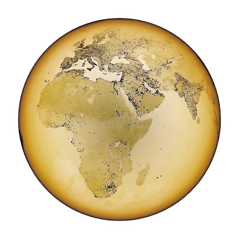 τρύγος γήινων χαρτών ελεύθερη απεικόνιση δικαιώματος