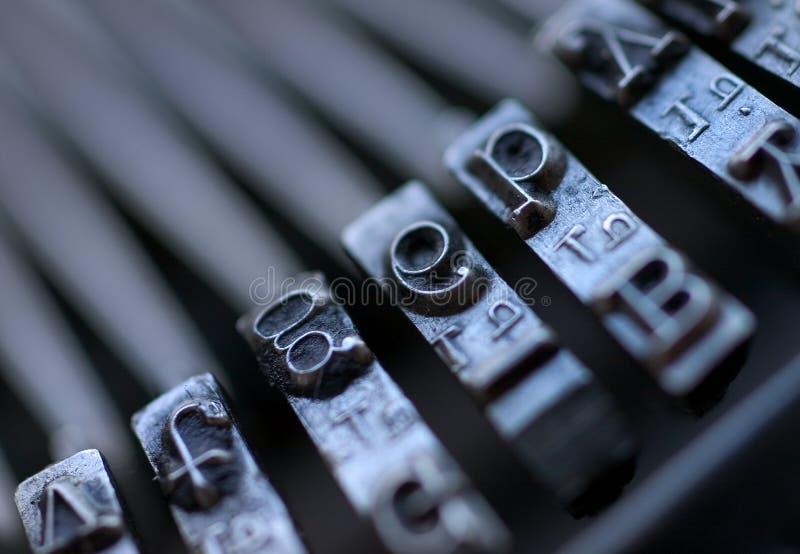 τρύγος γραφομηχανών πλήκτρων στοκ εικόνα