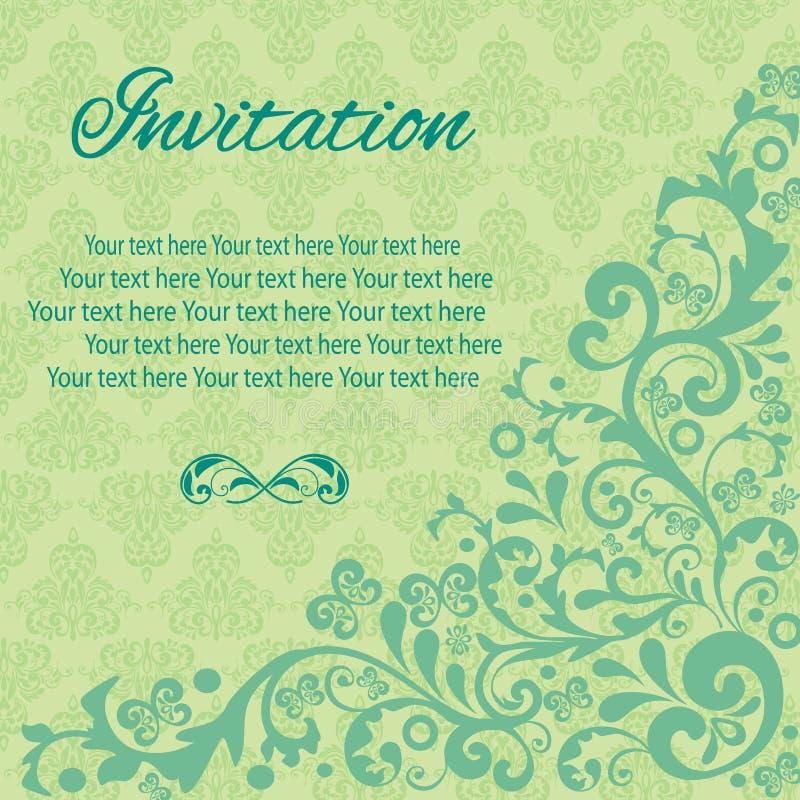 Τρύγος καρτών πρόσκλησης στοκ εικόνες