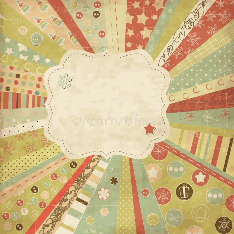 τρύγος καρτών Χριστουγένν&o απεικόνιση αποθεμάτων