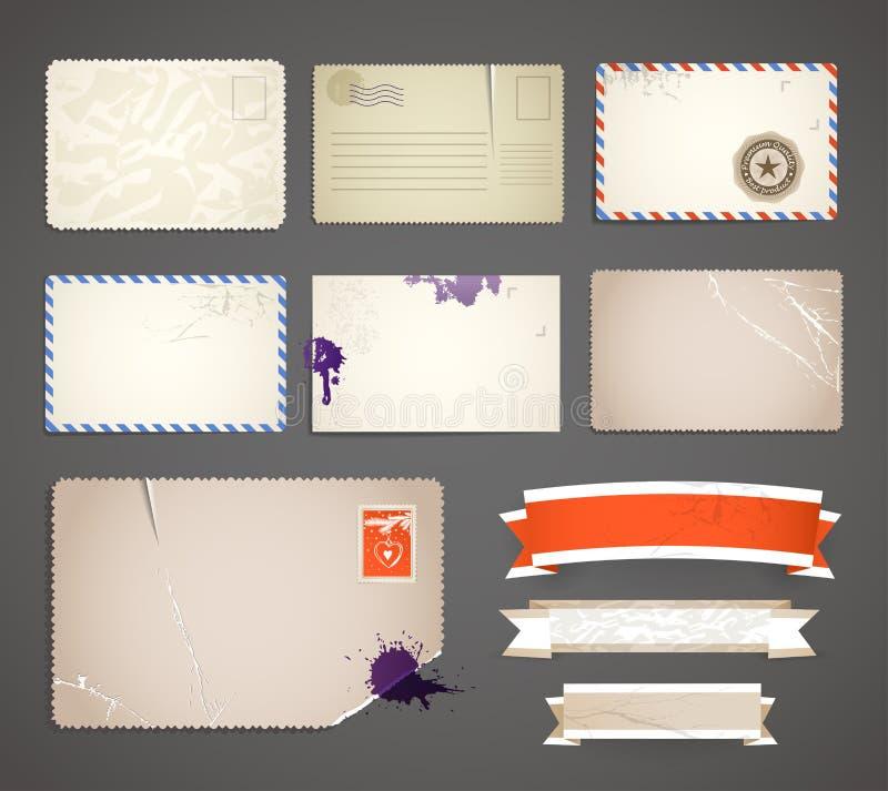 τρύγος κορδελλών καρτών απεικόνιση αποθεμάτων