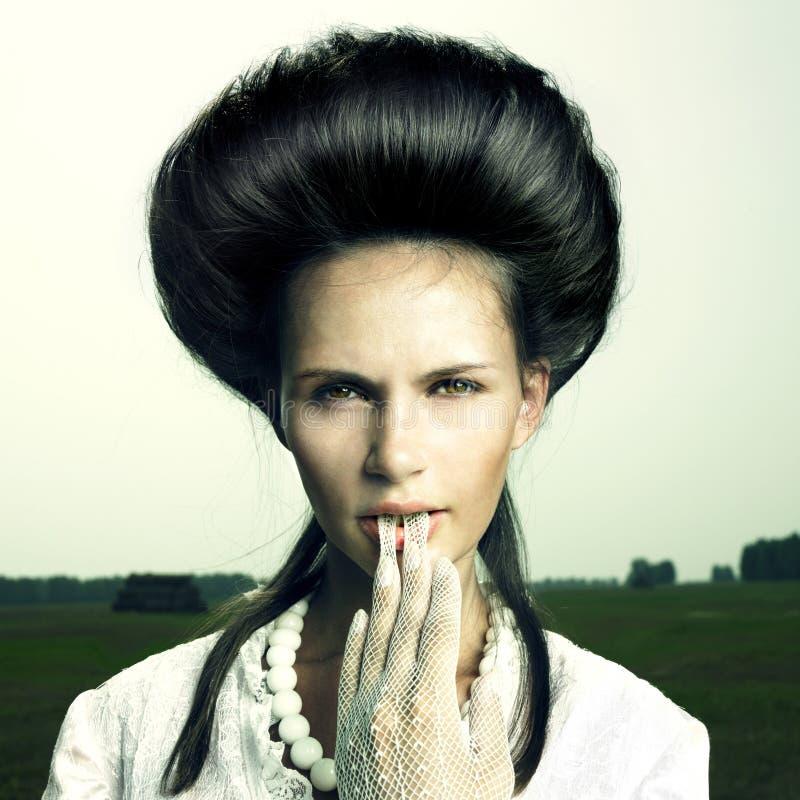 τρύγος κοριτσιών hairstyle στοκ εικόνες με δικαίωμα ελεύθερης χρήσης
