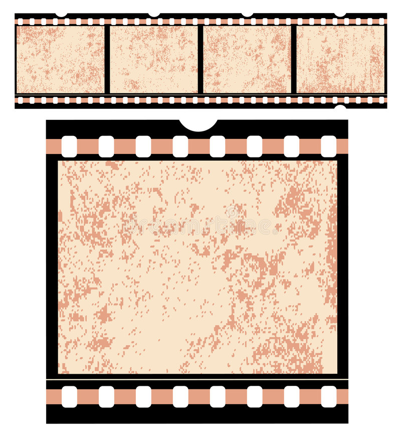 τρύγος λουρίδων ταινιών απεικόνιση αποθεμάτων