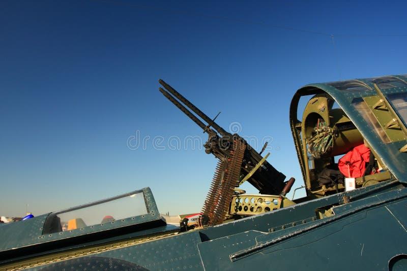 τρύγος μηχανών πυροβόλων όπλων αεροσκαφών στοκ εικόνες με δικαίωμα ελεύθερης χρήσης