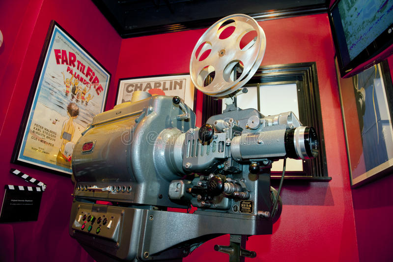 τρύγος προβολέων ταινιών στοκ φωτογραφία