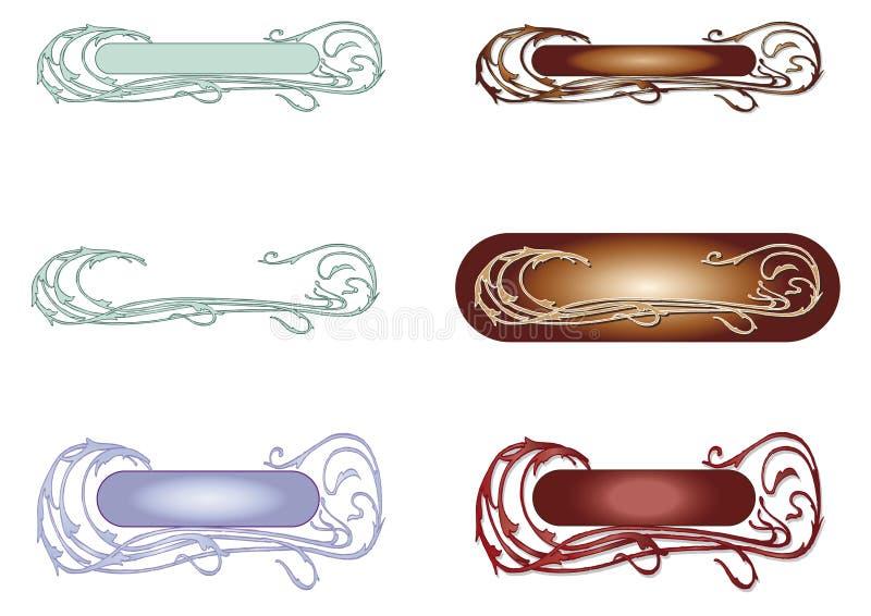 τρύγος προτύπων λογότυπων απεικόνιση αποθεμάτων