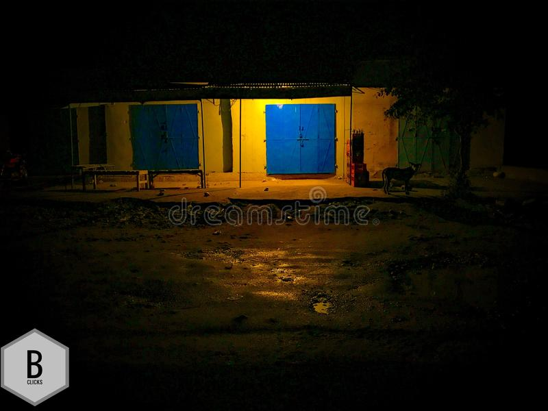 Τρύγος σκυλιών νύχτας χρωμάτων στοκ εικόνες με δικαίωμα ελεύθερης χρήσης