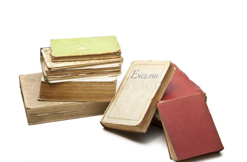 τρύγος στοιβών βιβλίων στοκ εικόνες