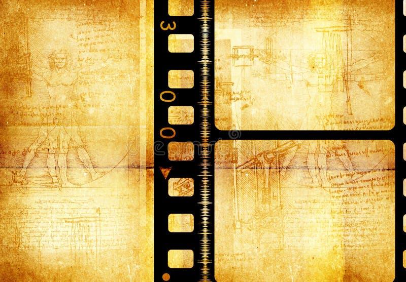 τρύγος ταινιών ελεύθερη απεικόνιση δικαιώματος