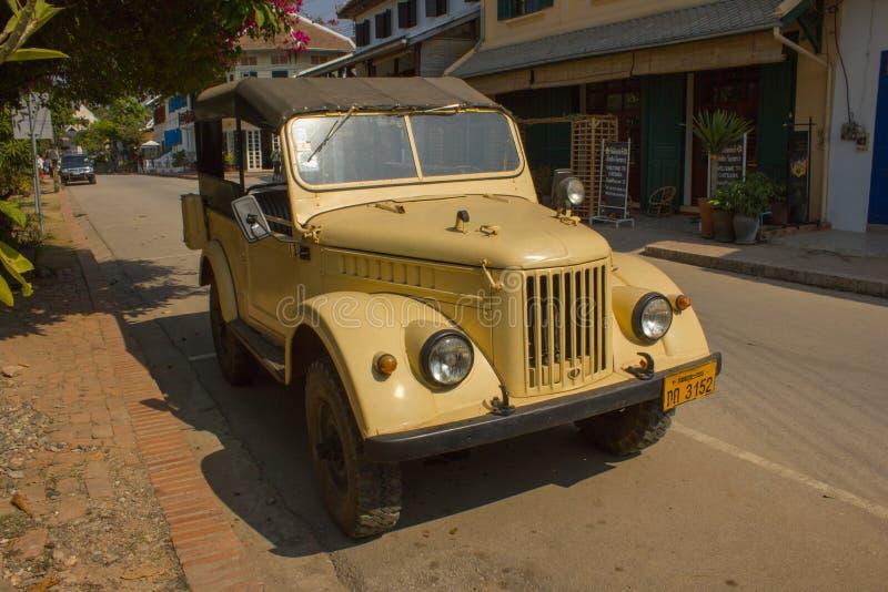 τρύγος του Λάος αυτοκινήτων luang phabang στοκ εικόνες