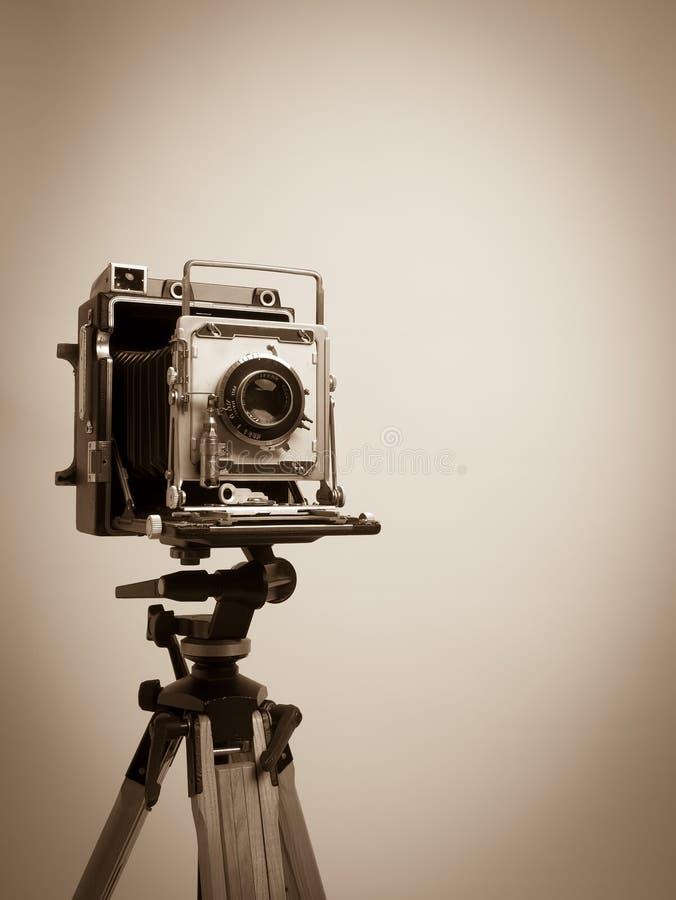 τρύγος τρίποδων Τύπου φωτογραφικών μηχανών ξύλινος στοκ εικόνα με δικαίωμα ελεύθερης χρήσης