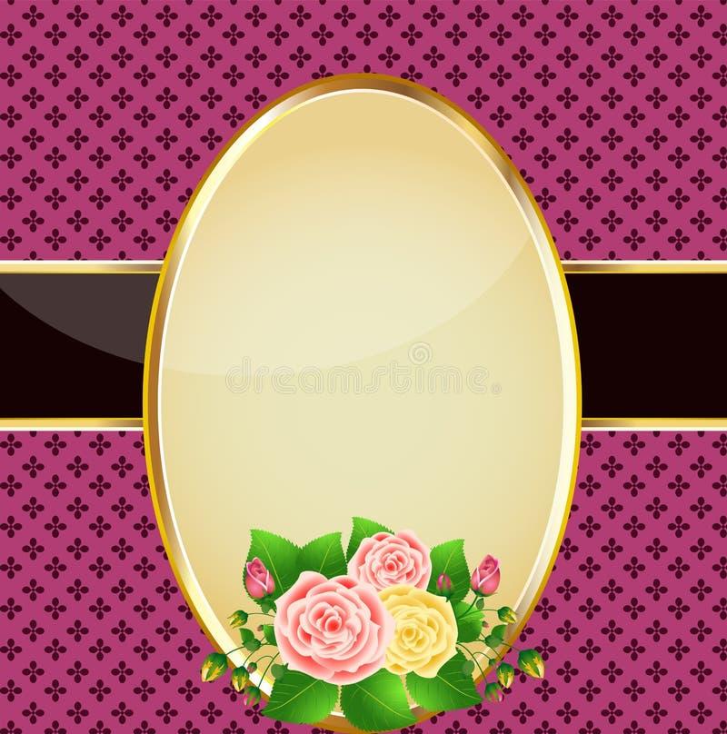 τρύγος τριαντάφυλλων καρ διανυσματική απεικόνιση