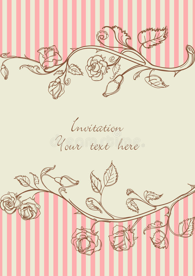 τρύγος τριαντάφυλλων πλα απεικόνιση αποθεμάτων