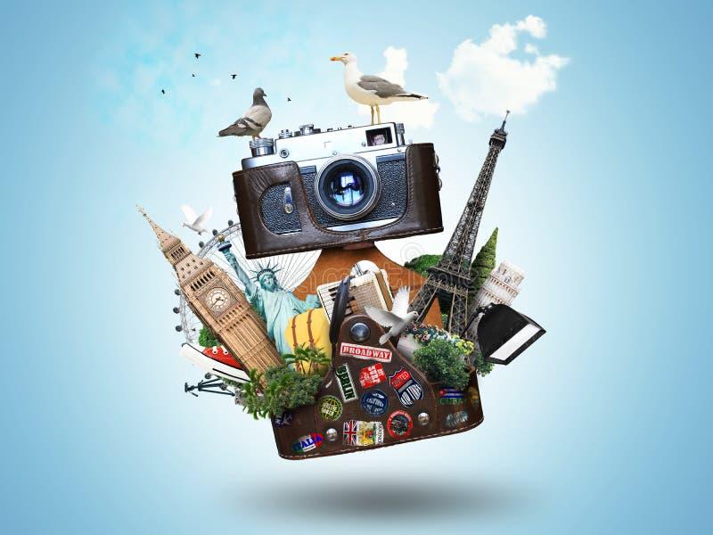 τρύγος φωτογραφικών μηχανών 35mm slr διανυσματική απεικόνιση
