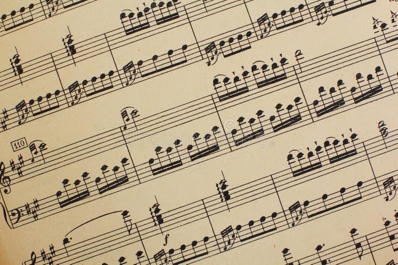 τρύγος φύλλων μουσικής στοκ φωτογραφία με δικαίωμα ελεύθερης χρήσης