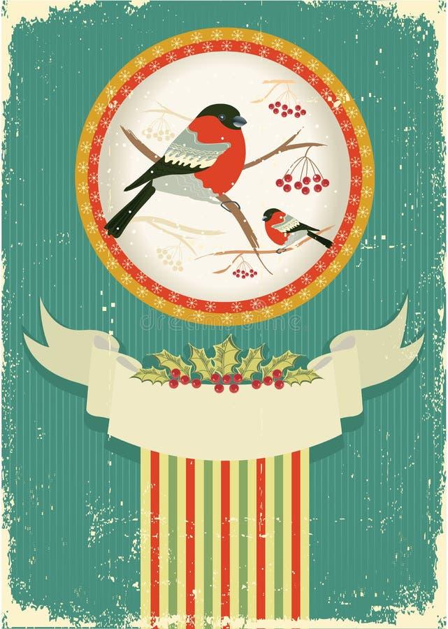 τρύγος Χριστουγέννων καρ& διανυσματική απεικόνιση