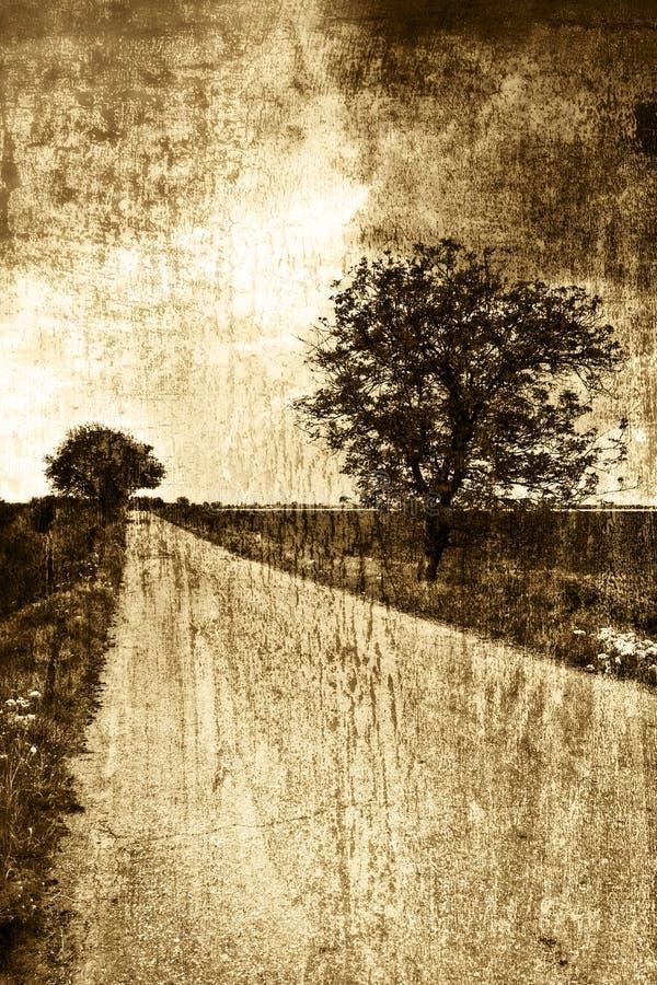 τρύγος ύφους οδικών αγρ&omicro στοκ φωτογραφία