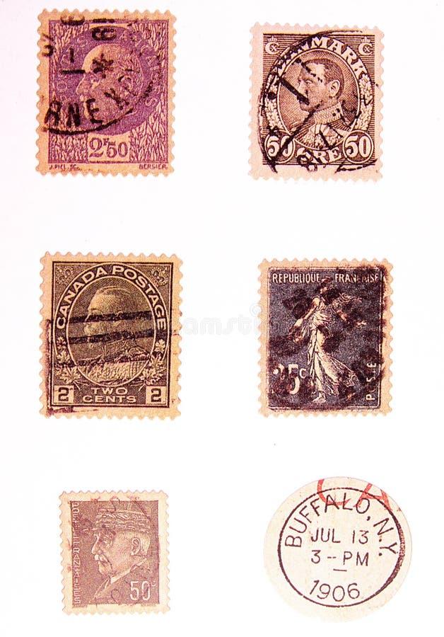 τρύγος 2 ταχυδρομικών τελ στοκ εικόνα με δικαίωμα ελεύθερης χρήσης