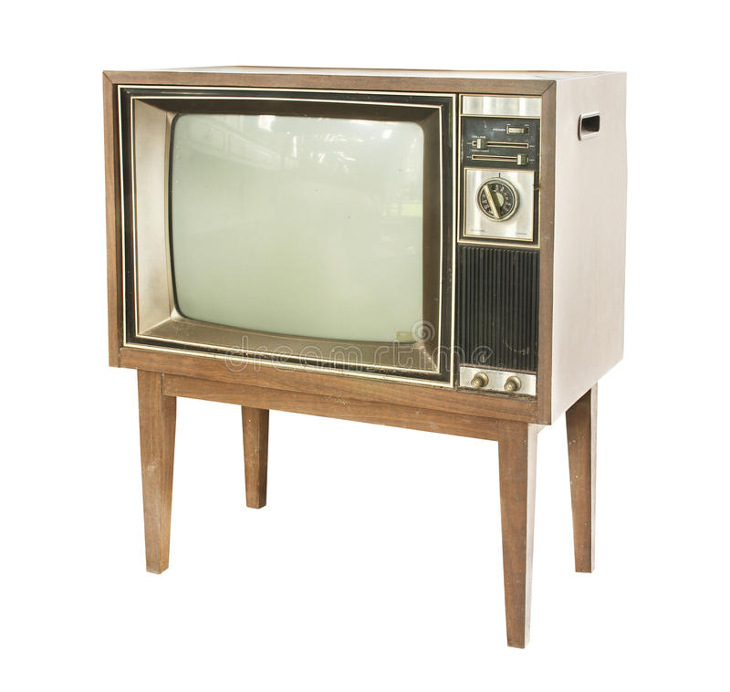 τρύγος TV στοκ εικόνες