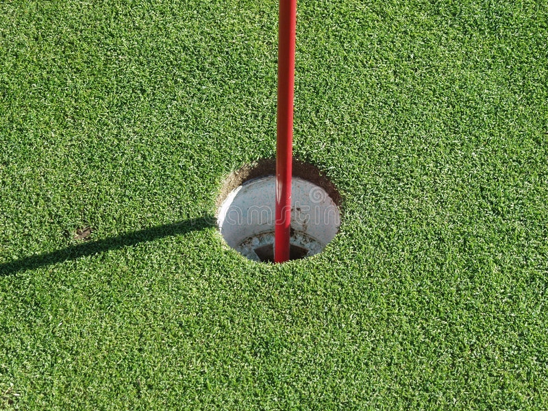 τρύπα γκολφ στοκ εικόνες