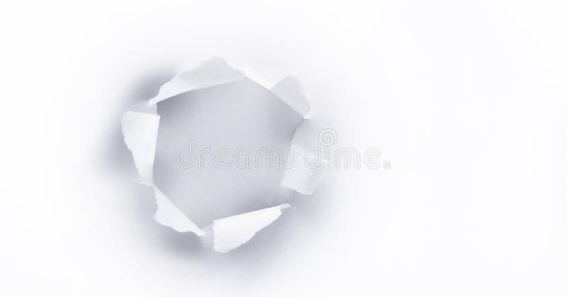 Τρύπα εγγράφου στοκ εικόνες
