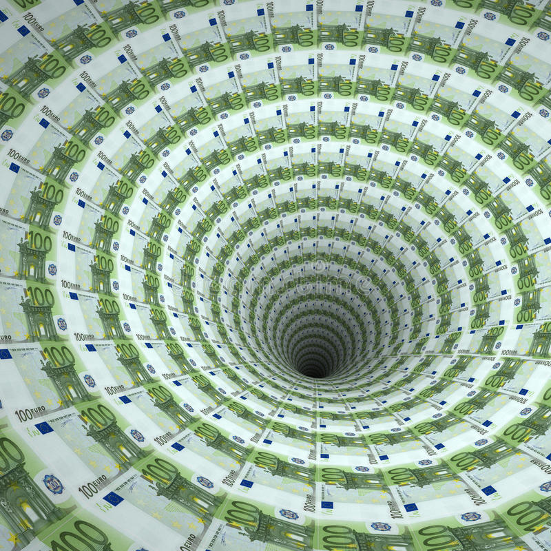 τρύπα ευρώ διανυσματική απεικόνιση