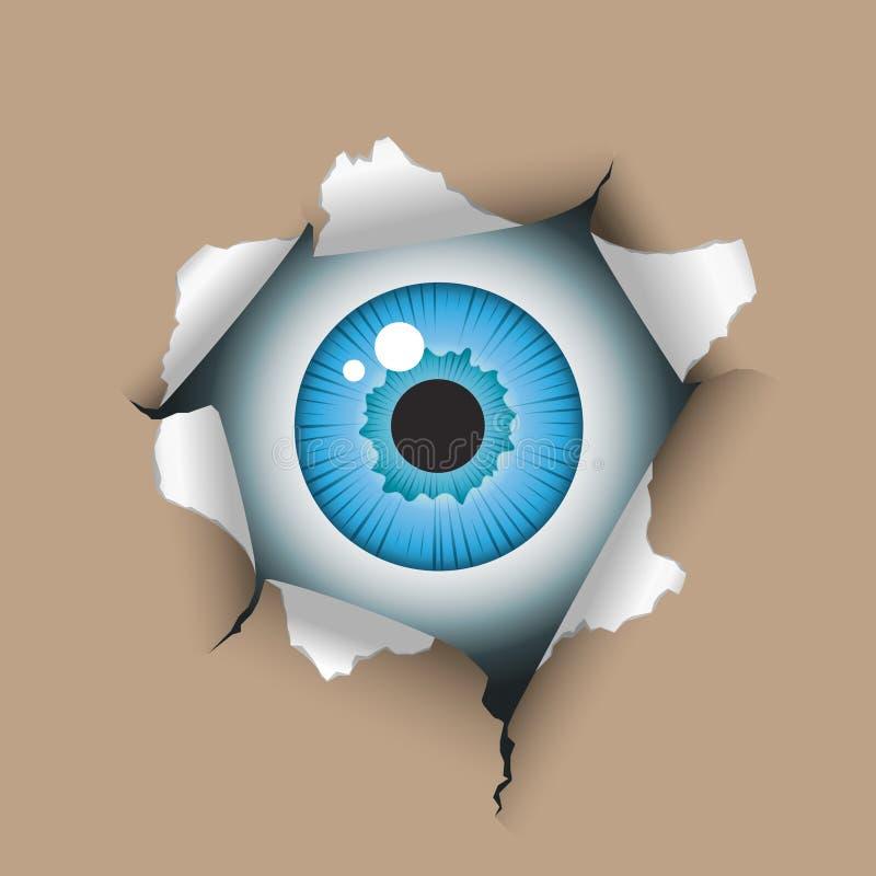 τρύπα ματιών απεικόνιση αποθεμάτων
