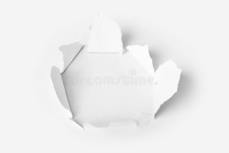 Τρύπα που τρυπιέται με διατρητική μηχανή στο έγγραφο στοκ φωτογραφία με δικαίωμα ελεύθερης χρήσης