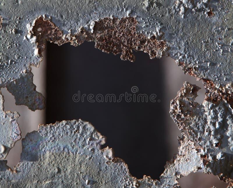 τρύπα σκουριασμένη στοκ εικόνες