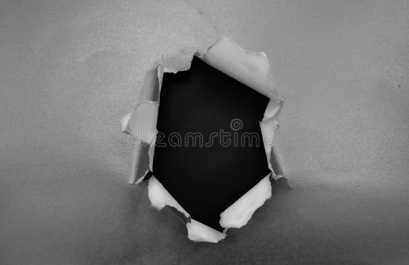 Τρύπα στο ασήμι στοκ εικόνα με δικαίωμα ελεύθερης χρήσης