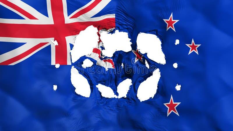 Τρύπες στη σημαία της Νέας Ζηλανδίας ελεύθερη απεικόνιση δικαιώματος