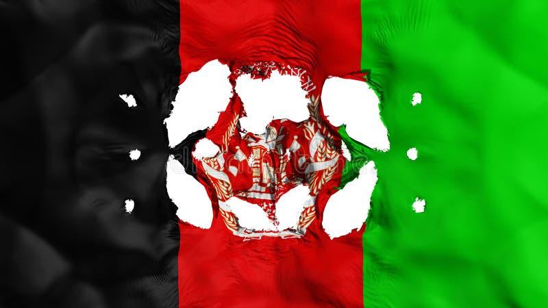 Τρύπες στη σημαία του Αφγανιστάν διανυσματική απεικόνιση