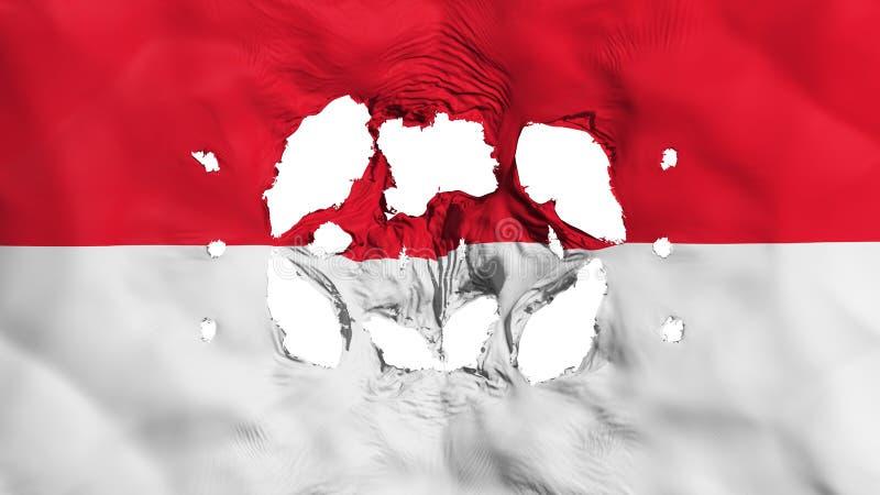 Τρύπες στη σημαία του Μονακό διανυσματική απεικόνιση