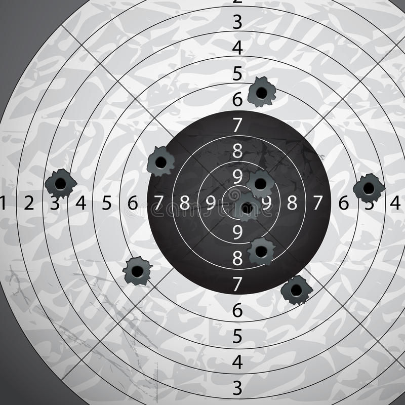 τρύπες s πυροβόλων όπλων σφαιρών απεικόνιση αποθεμάτων