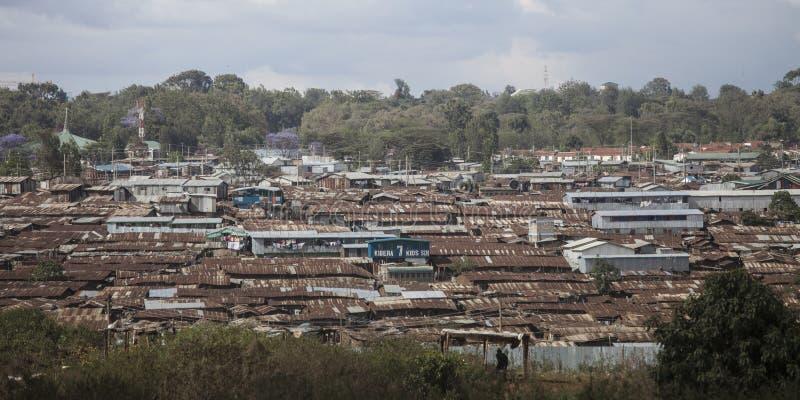 Τρώγλες του kibera, Κένυα στοκ εικόνα