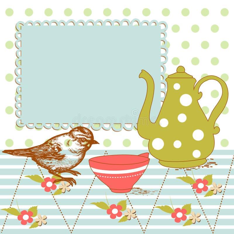 τσάι ανασκόπησης απεικόνιση αποθεμάτων