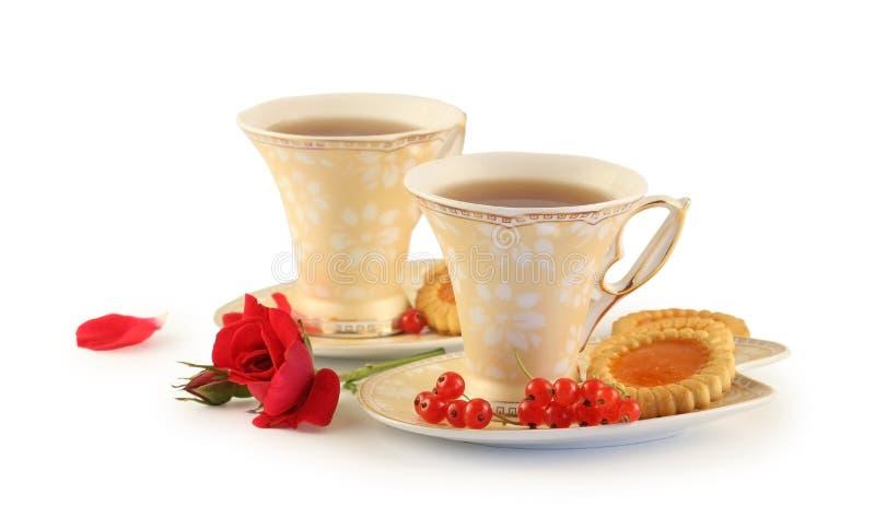 τσάι δύο φλυτζανιών στοκ φωτογραφία με δικαίωμα ελεύθερης χρήσης