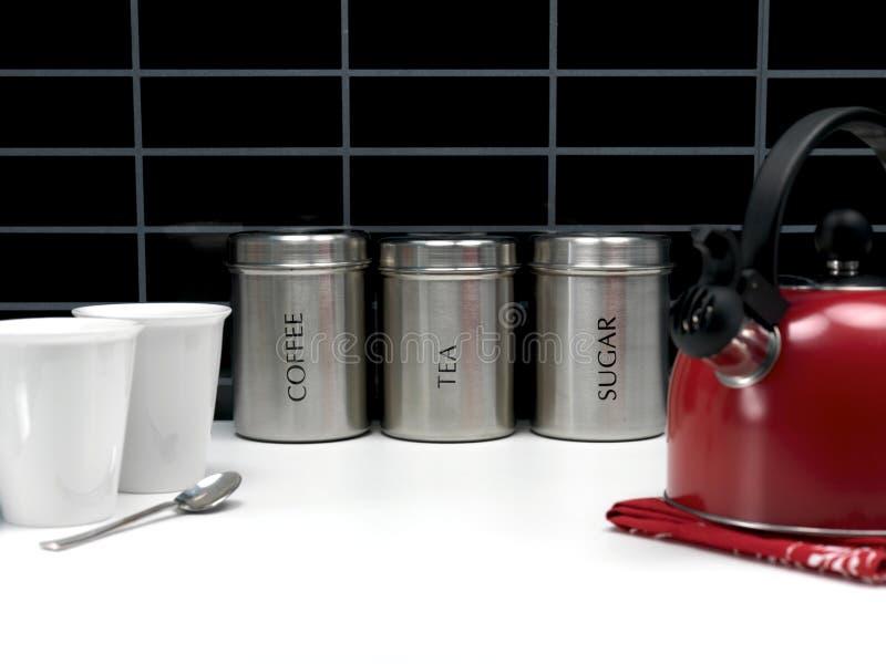 τσάι ζάχαρης καφέ μεταλλι&kap στοκ φωτογραφίες με δικαίωμα ελεύθερης χρήσης