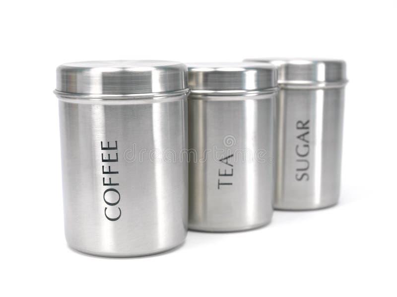 τσάι ζάχαρης καφέ μεταλλι&kap στοκ εικόνες