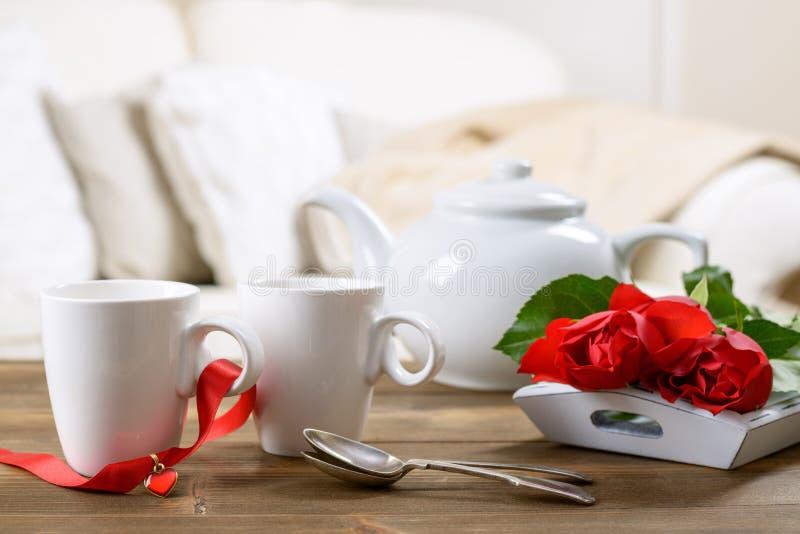 Τσάι ημέρας βαλεντίνων στοκ εικόνες με δικαίωμα ελεύθερης χρήσης