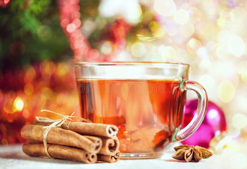 Τσάι και καρυκεύματα Χριστουγέννων στοκ εικόνα