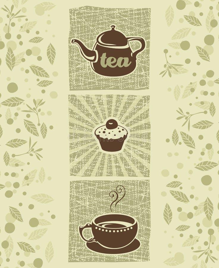 Τσάι και μπισκότο ελεύθερη απεικόνιση δικαιώματος