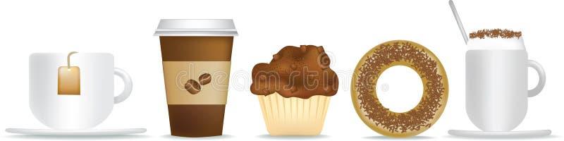 τσάι καφέ προγευμάτων ελεύθερη απεικόνιση δικαιώματος