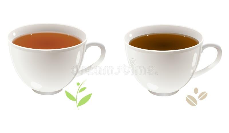 τσάι καφέ διανυσματική απεικόνιση