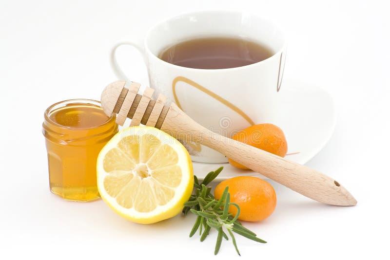 τσάι λεμονιών μελιού στοκ εικόνα με δικαίωμα ελεύθερης χρήσης