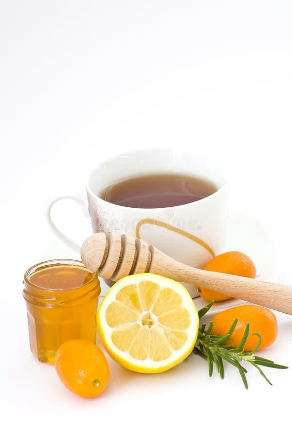 τσάι λεμονιών μελιού στοκ φωτογραφία